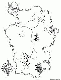 Coloriage Carte Tresor De Pirate Avec Bousole Dessin Pour Au A