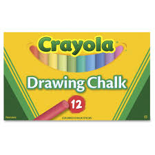 Crayola Colored Drawing Chalk, 12 Assorted Colors 12 Sticks/Set ...