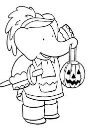 Cartoon Coloring Pages Printable For Halloween