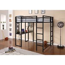 dhp abode full metal loft bed over workstation desk multiple