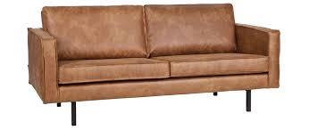 canapé cuir mobilier de canapé cuir vintage camel 3 places aspen miliboo