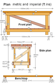 free work bench plans metric dimensions