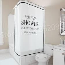 großhandel moderne schwarz weiß bad bad vorhang bad dusche für den täglichen gebrauch duschvorhang set nordic wasserdichte 180x180 cm bright689