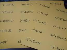 math factoring trinomials self checking practice activity