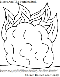 Coloring Page Moses And The Burning Bush With Scripture Exodus 32