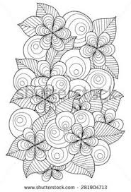 Ethnic Floral Zentangle Doodle Background Pattern Circle In Vector Black And White For Coloring Book Adults Kids