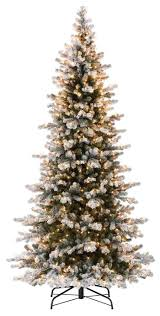 Pre Lit Pencil Slim Christmas Trees by Decoration Ideas Slim Small Christmas Tree Design With Snow Effect