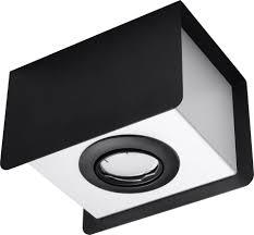 licht erlebnisse strahler trebellia deckenspot schwarz weiß rechteckig gu10 l 17cm wohnzimmer flur 1 st kaufen otto