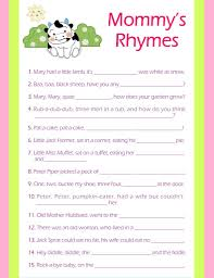 Peter Peter Pumpkin Eater Rhyme Free Download by Nursery Rhymes Printable Baby Shower Game Party Ideas