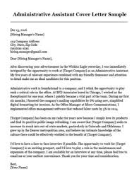 Related Cover Letter Resumes Administrative Assistant Sample