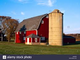 Agriculture - Red Barn And Silo In Autumn With Green Lawn In The ... Red Barn Green Roof Blue Sky Stock Photo Image 58492074 What Color Is This Bay Packers Barn Minnesota Prairie Roots Pfun Tx Long Bigstock With Tin Photos A Stately Mikki Senkarik At Outlook Farm Wedding Maine Boston 1097 Best Old Barns Images On Pinterest Country Barns Photograph The Palouse Or Anywhere Really Tips From Pros Vermont Weddings 37654909