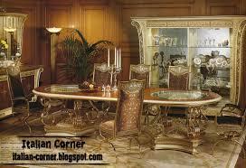 Italian Royal Dining Room Furniture Design