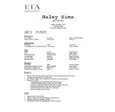 Resume For A Beginner Acting Resumes Beginners Actor Template Actors Job