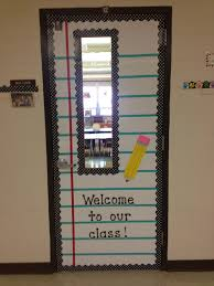 Easy Christmas Classroom Door Decorating Ideas by My Classroom Door Hope It Kinda Looks Like Notebook Paper
