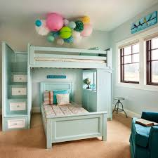 Turquoise Awesome Loft Beds Modern Loft Beds Space Saving