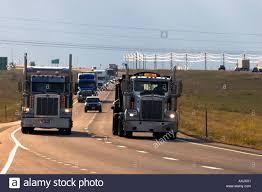 100 Cheyenne Trucks Semi Trucks Travel On Interstate 80 West Of Wyoming Stock