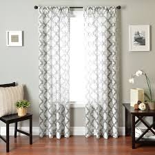 Kohls Double Curtain Rods by Windsor Burnout Custom Curtains Drapery