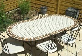 table ronde mosaique fer forge mobilier de jardin en fer forge et mosaique table achat vente pas