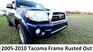 My 2005 Tacoma Frame Has Rust = Brand New Frame For Free? - YouTube Outstanding Toyota Frame Rot Model Ideas De Marcos Lamegapromoinfo 1994 Pickup Why Is The Bed Of My Truck Uneven With Cab 44toyota Trucks Tundra Wikipedia Rust Pic Tacoma World Breaking A Rusty Truck Frame Hammer Youtube Rusted 2004 Recall Roundup A Plethora Automakers Issue Vehicle Recalls The Bare Minimum Gx470 Ih8mud Forum Excessive Anticorrosion Coating Leads To 62017 Pays 34 Billion To Resolve Claims From Sequoia