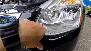 how to change replace headlight bulbs in nissan rogue 2007 2013