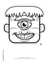 Male Zombie Mask To Color Printable Mask Free To Download And