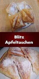 blitz apfeltaschen aus dem sandwichmaker kochen und
