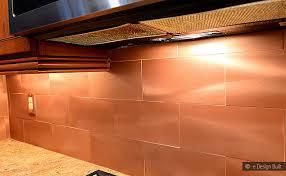 Copper Tiles For Backsplash by Copper Color Large Subway Backsplash Backsplash Com