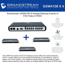 Grandstream GXW4108 (BUNDLE Of 4) IP Analog Gateway 8 Port VoIP ...