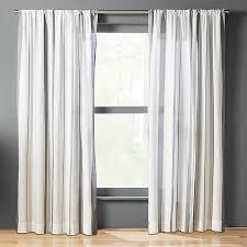 wide stripe curtain panel cb2