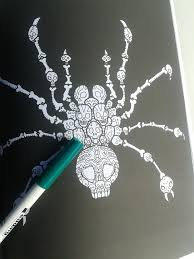 Anti Stress Coloring Book For Grownups And Spider Fans
