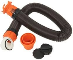 RhinoFLEX RV Sewer Hose W Swivel Fittings 4 In 1 Adapter And