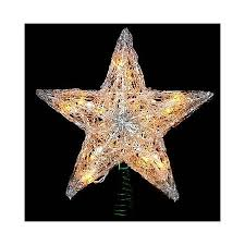12 Lighted Crystal Style Star Christmas Tree Topper