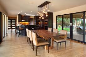 Wood Slab Dining Table Room Contemporary With Ceiling Modern