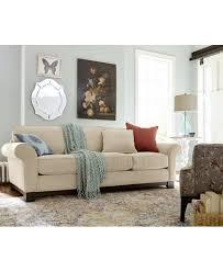 Buchannan Microfiber Sofa Instructions by Medland Fabric Roll Arm Sofa With 2 Pillows Created For Macy U0027s