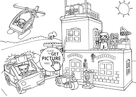 Lego Police Coloring Page For Kids Printable Free Duplo New Pages