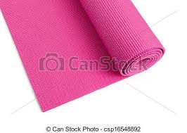 Pink Yoga Mat With White Background Stock Photographs