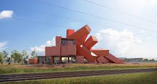 100 House Built From Shipping Containers UK Artist Designs Sculptural Building
