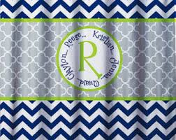 Chevron Print Shower Curtains by Kids Shower Curtain Etsy