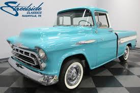 1957 Chevrolet Cameo | Streetside Classics - The Nation's Trusted ... 1955 Chevy Truck For Sale Youtube 57 Pickup Truck 1 Ton Extended Cab Dually With 454 Sitting 1957 Chevrolet Pick Up Bangshiftcom Stock Photos Images Alamy 9 Sixfigure Trucks The Trade 3100 Swapping Stre Hemmings Stance Works Adams Rotors Pickup Chevrolet 3100sidestep Rat Rod Hot No Reserve Awesome Engine Install Used Step Side At Webe Autos Serving