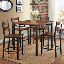 Counter Height Dining Room Set 5 Piece Kitchen Furniture Dinette Breakfast Nook
