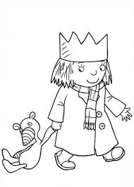 Click To See Printable Version Of Little Princess With Gilbert Coloring Page