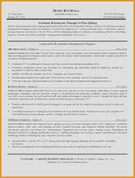 Restaurant Resume Template From Assistant Manager Free Sample