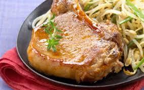 recette côtes de porc laquées au miel 750g