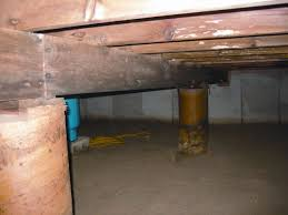 Floor Joist Bracing Support by How To Support Floor Joists In A Crawl Space Ourcozycatcottage