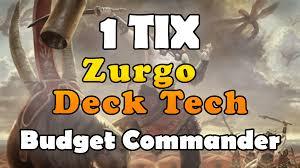 Best Pauper Edh Decks by The Discard 1 Tix Commander Challenge Zurgo Bellstriker Budget