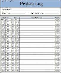 7 Free Project Log Templates