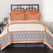 Gray And Orange forter Set Interior Decorating