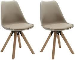 duhome lifestyle stühle 2er set in cappuccino esszimmer stuhl küchenstuhl mit holzbeine stabil und schick 448