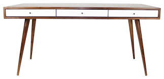 Jeremiah Collection Mid Century Desk with White Gloss Drawers