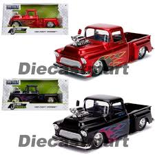 100 Just Trucks Jada 124 1955 Chevrolet Stepside Candy Red Glossy